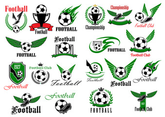 Sporting icons for football or soccer game design