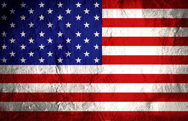 American flag with dirt grunge for independence day background
