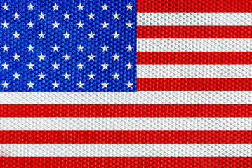 American flag with elegant pattern material texture background