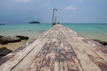 Pier At Koh Rong Island , Cambodia