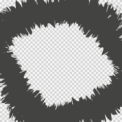 Abstract comic book flash explosion background. transparent