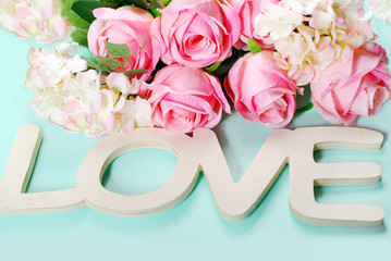 romantic love background in pastel colors
