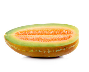 Ripe cucumis,Ripe cantaloupe on white background