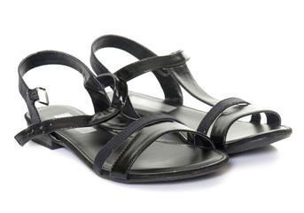 black sandals in studio