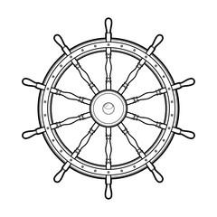 Graphic marine steering wheel