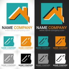 logo construction maison artisan btp