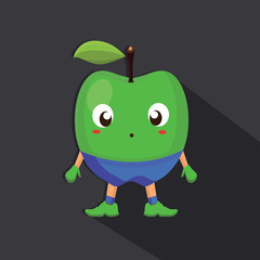 Apple Flat Character