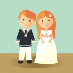 First Communion redheads children