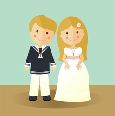 First Communion blond children