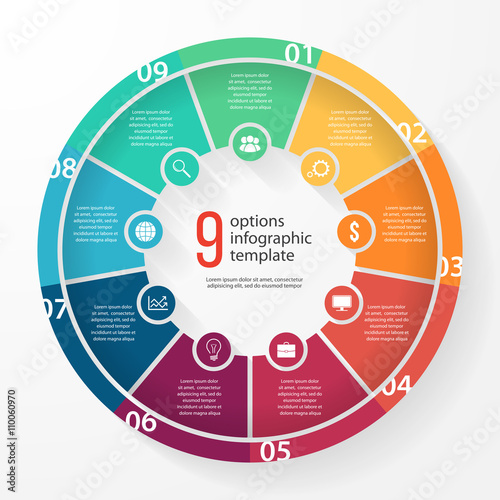 vector business pie chart template for graphs charts diagrams