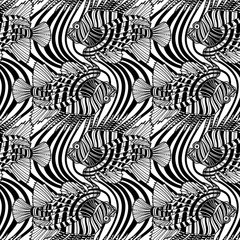 Graphic lion fish pattern