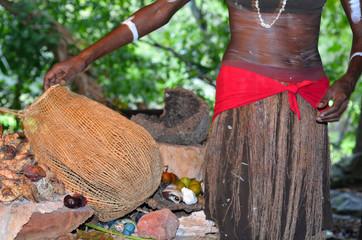Yirrganydji Aboriginal woman explain about the home tools made b