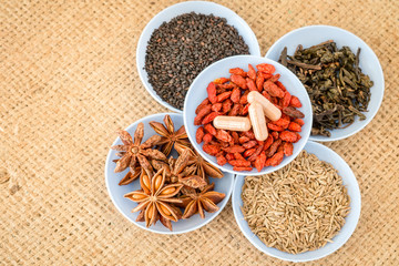 Ingredients for Chinese herbal medicine