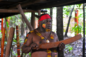 Yirrganydji Aboriginal warrior explain about Native Australian m