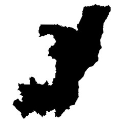 Republic of Congo black map on white background vector