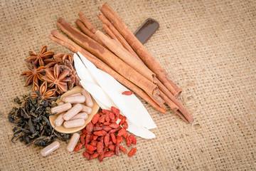 Ingredients for Chinese herbal medicine