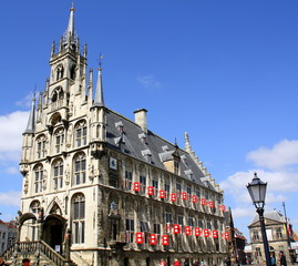 Fototapete - City hall from 1450 in the city of Gouda. The Netherlands