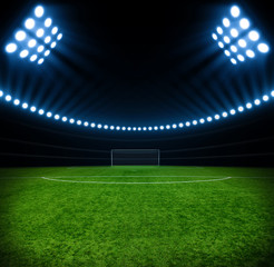 soccer stadium with lights