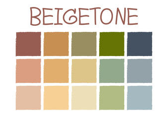 Beigetone Color Tone without Code Vector Illustration