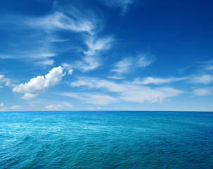 Stores à enrouleur Mer / Ocean Blue sea water
