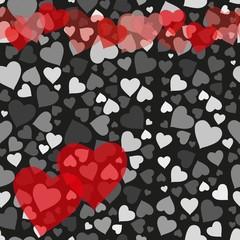 Romantic valentine seamless pattern