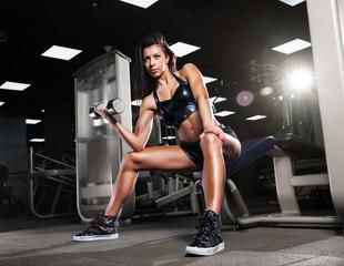 Beautiful girl doing exercises