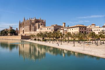 Big cathedral in Palma de Mallorca