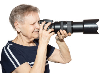 grandmother with a camera