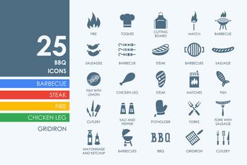 Set of BBQ icons