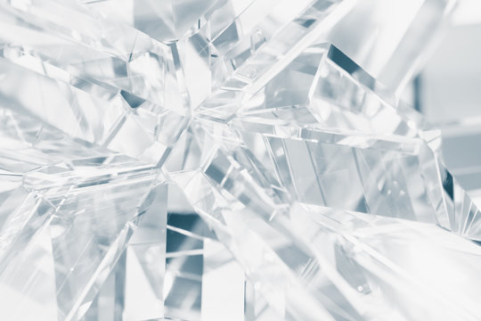 abstract background of crystal refractions