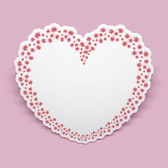 Paper heart, Valentine Day greeting card