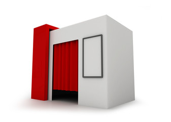 Photo Booth - 3D rendering