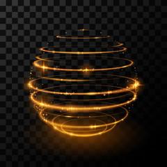 Gold light sphere effect