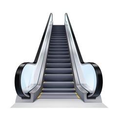 Realistic Escalator Illustration