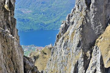 Panorama del lago di Lecco visto dalla Grigna