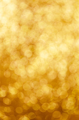 Gold spring or summer, defocused lights bokeh abstract