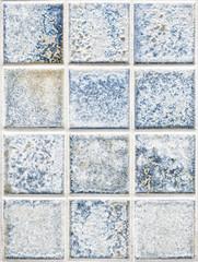 blue square tiles