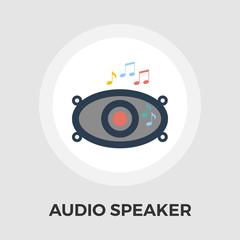 Car speakers flat icon