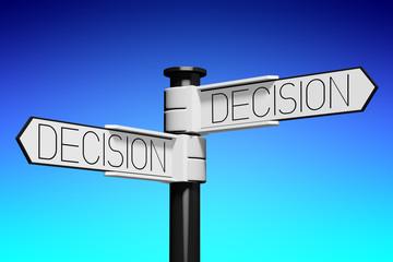 3D illustration/ 3D rendering - crossroads concept - decision