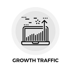 Growth Traffic Line Icon