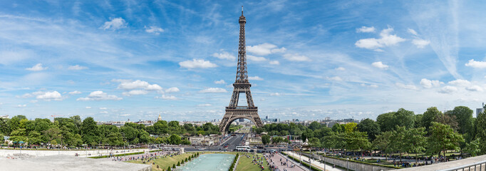 Printed roller blinds Paris Panorama of Eiffel Tower in sunny day, Paris, France