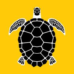 Turtle icon, symbol
