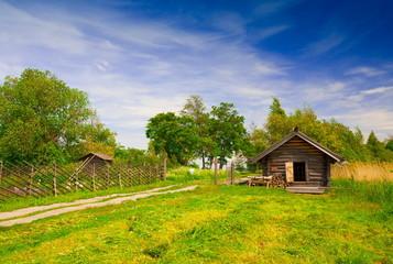 Kizhi. wooden hut landscape!