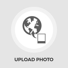 Upload photo vector flat icon