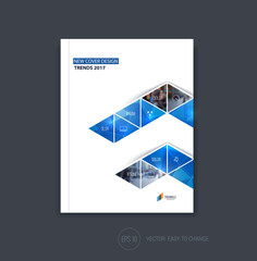 Business cover design, abstract brochure template, report, flyer