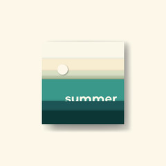 Abstract summer background vector illustration. Earth palette ground colors.
