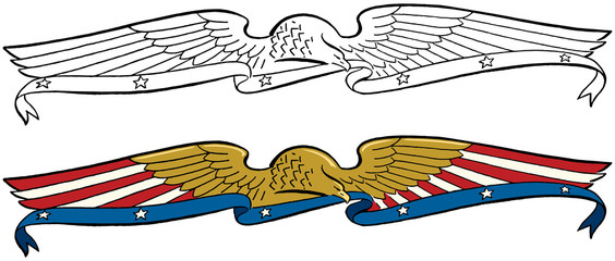 American eagle banner header