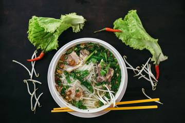 Traditional vietnamese street food