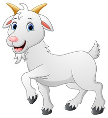 Cartoon goat character