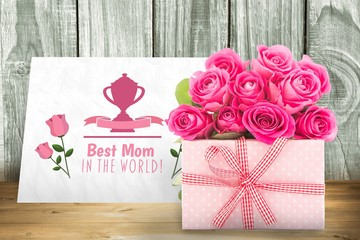 Composite image of gifts in a white background
